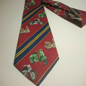 Great classic Tie with Motorbikes and Vespas on it
